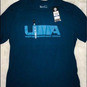 Under Armour Blue men's shirt short sleeves sz XL